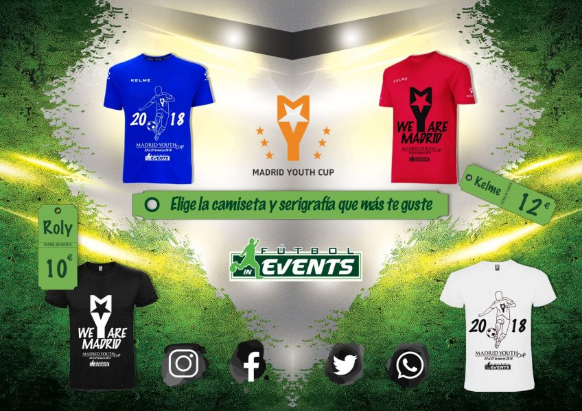 ¡No te quedes sin tu camiseta de la Madrid Youth Cup!